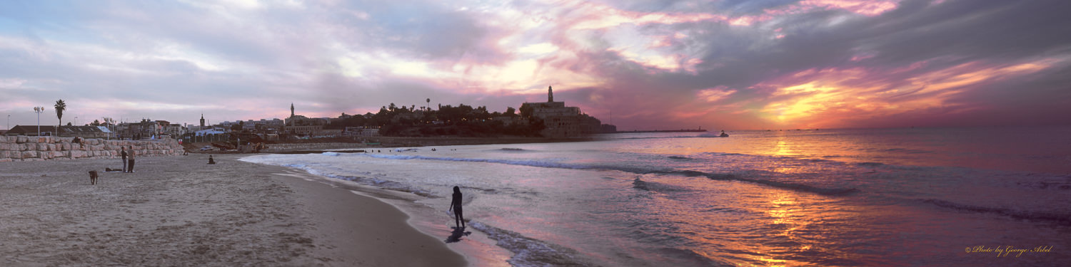 0018_sunset over jaffa_120x30